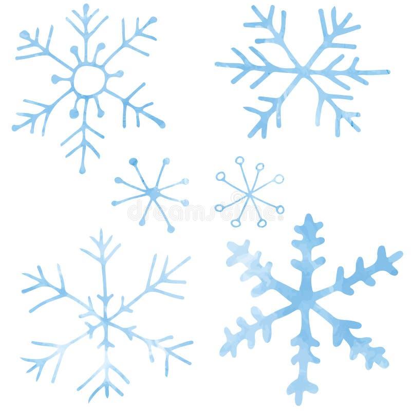 Copos de nieve - ejemplo del vector ilustración del vector