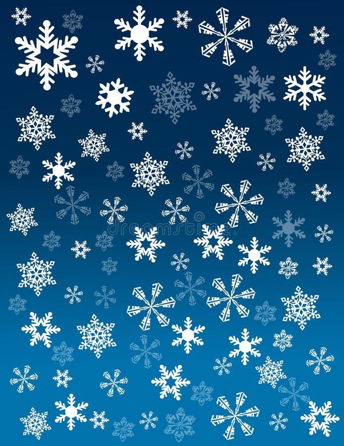Copos de nieve en fondo azul imagen de archivo libre de regalías