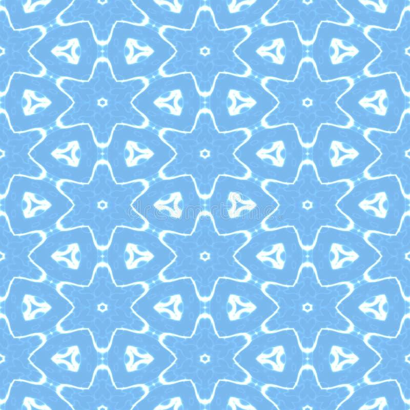 Copos de nieve en fondo inconsútil azul fotografía de archivo