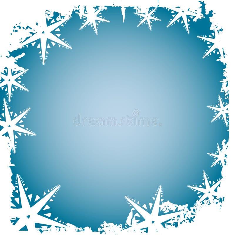 Copos de nieve escarchados ilustración del vector