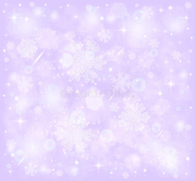 Copos de nieve, fondo escarchado de la nieve del invierno stock de ilustración