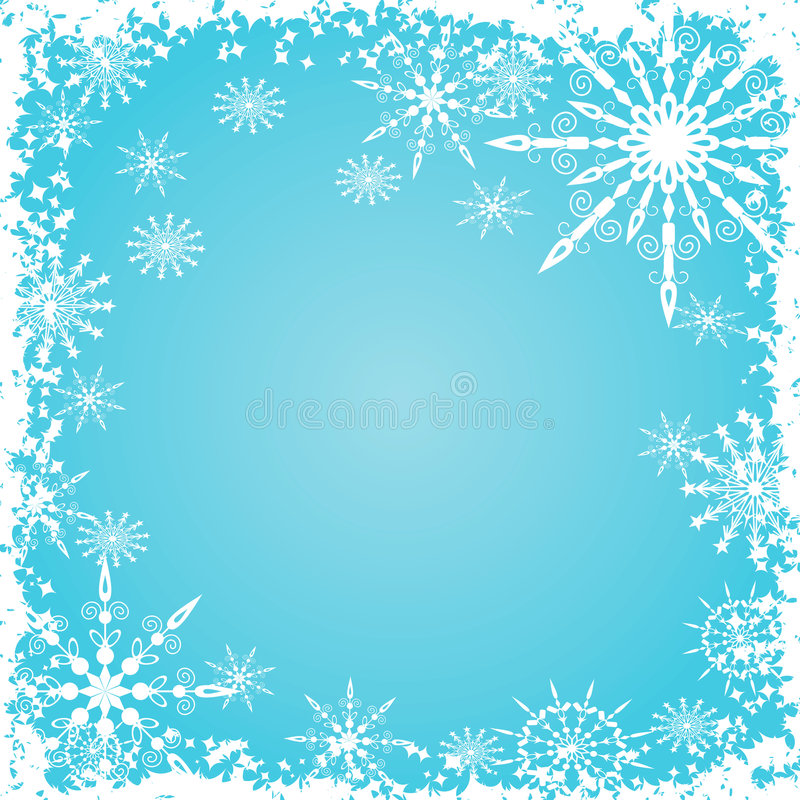 Copos de nieve fondo, vector de Grunge ilustración del vector