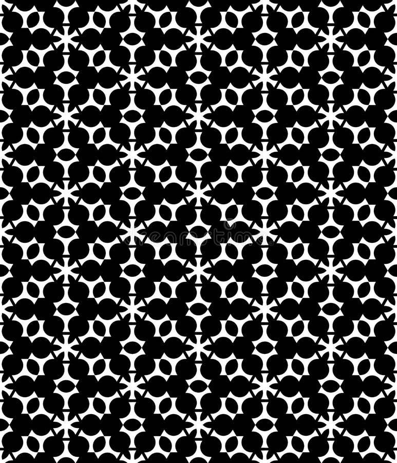 Copos de nieve inconsútiles modernos del modelo de la Navidad de la geometría del vector ilustración del vector