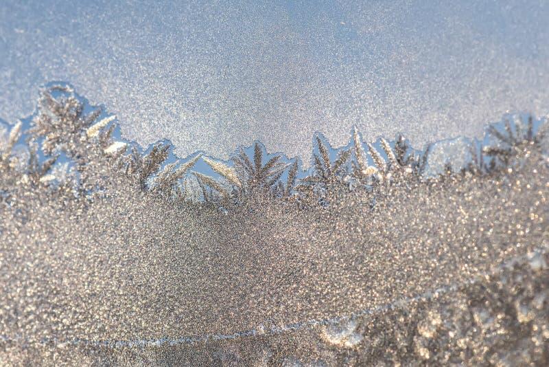 Copos de nieve de la escarcha de la ventana del modelo de Frost imagen de archivo