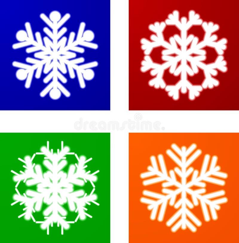 Download Copos de nieve luminosos. ilustración del vector. Ilustración de partícula - 7150253