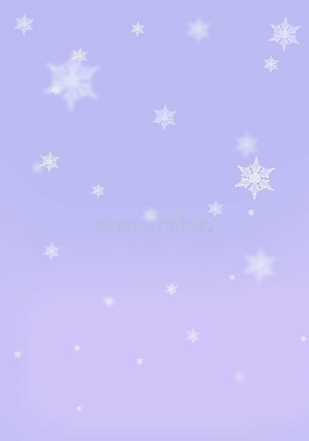 Copos de nieve púrpuras de la lila del fondo con la orientación vertical del efecto del bokeh libre illustration