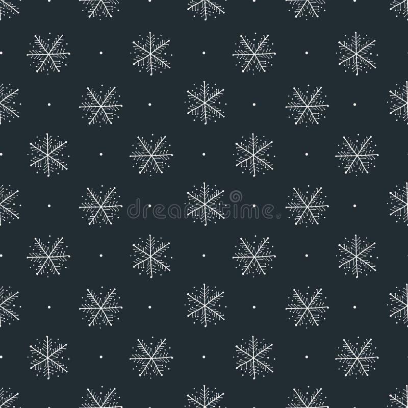 Copos de nieve que dibujan la colección - modelo del vector stock de ilustración
