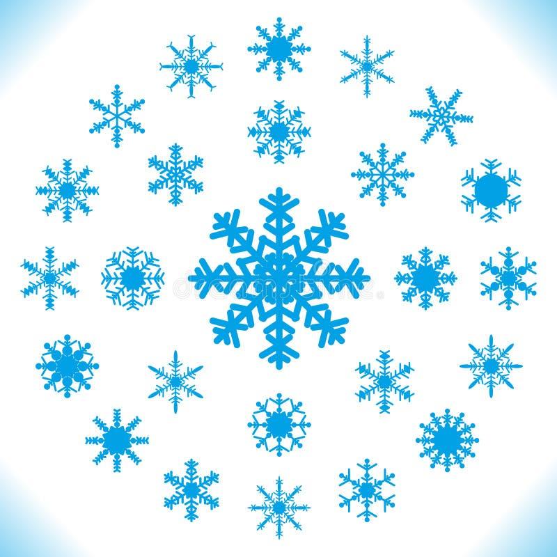 Copos de nieve - sistema de 25 pedazos. libre illustration