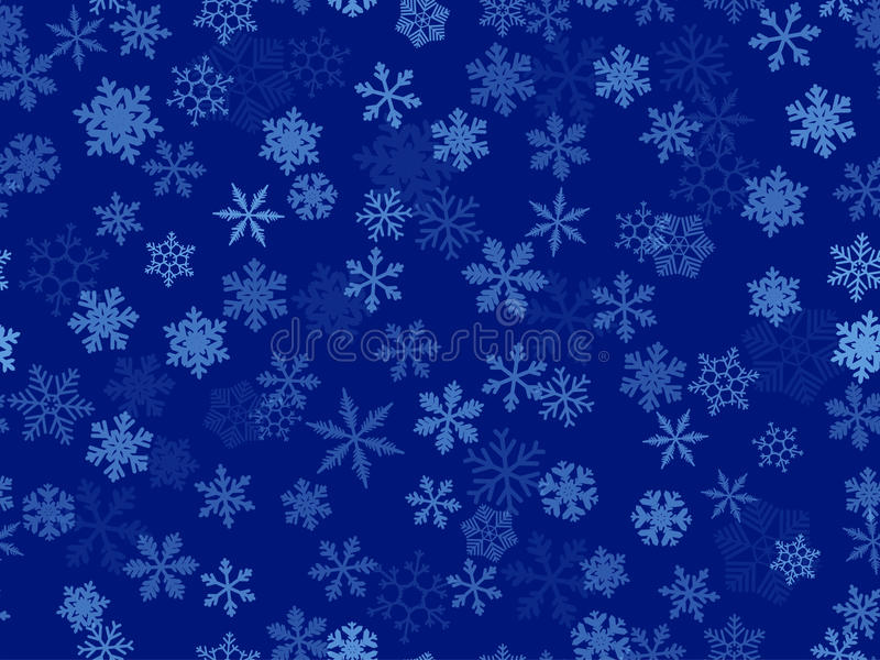 Copos de nieve transparentes del vector libre illustration