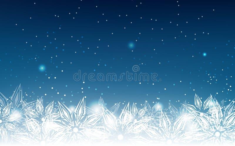 Copos de nieve, vacaciones de invierno, vector elegante, abstracto del fondo ilustración del vector