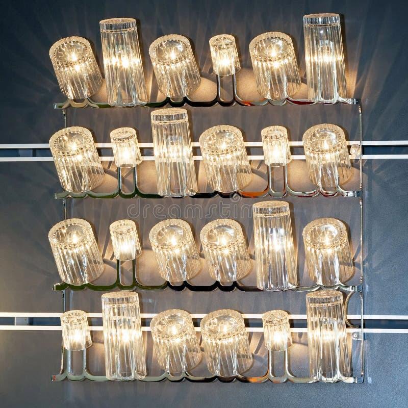 Copos de vidro imagem de stock