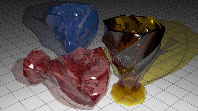 Copos de vidro coloridos ilustração stock