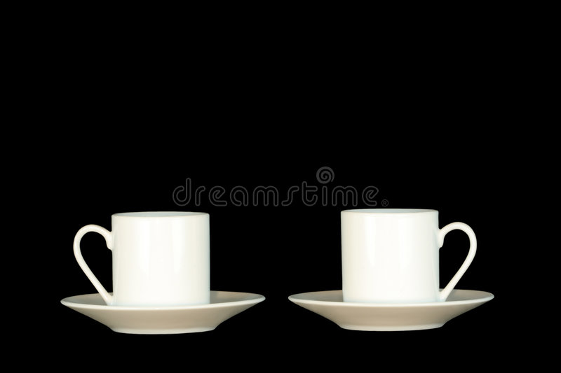 Copos do café fotografia de stock royalty free