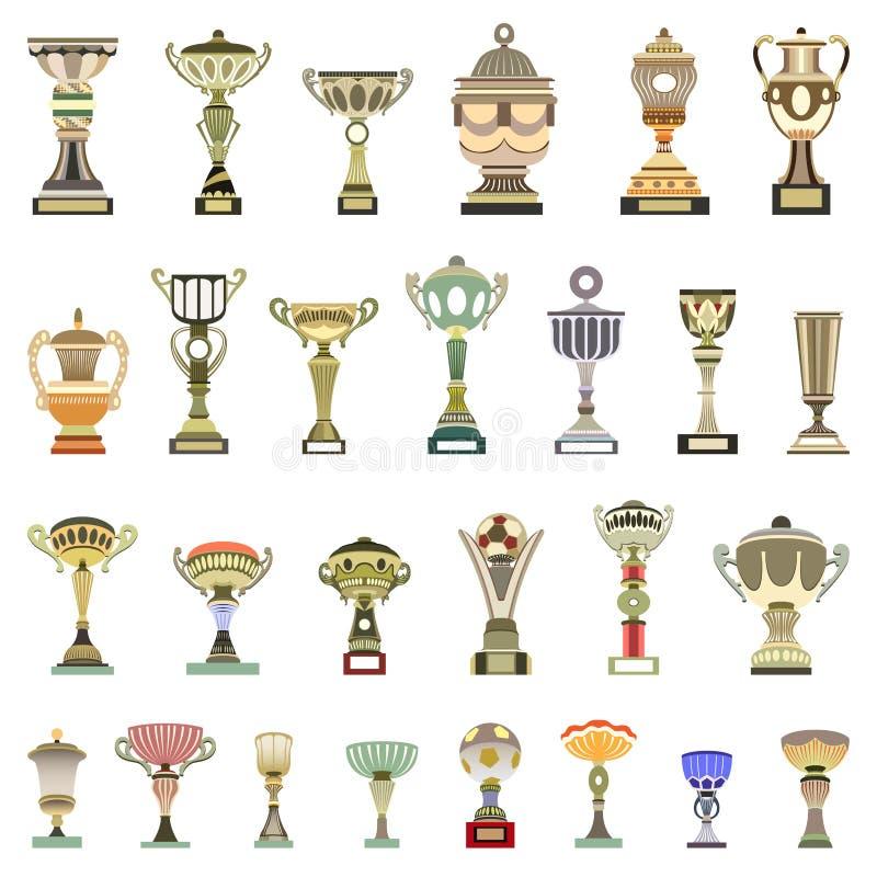 copos do troféu do vetor ilustração do vetor