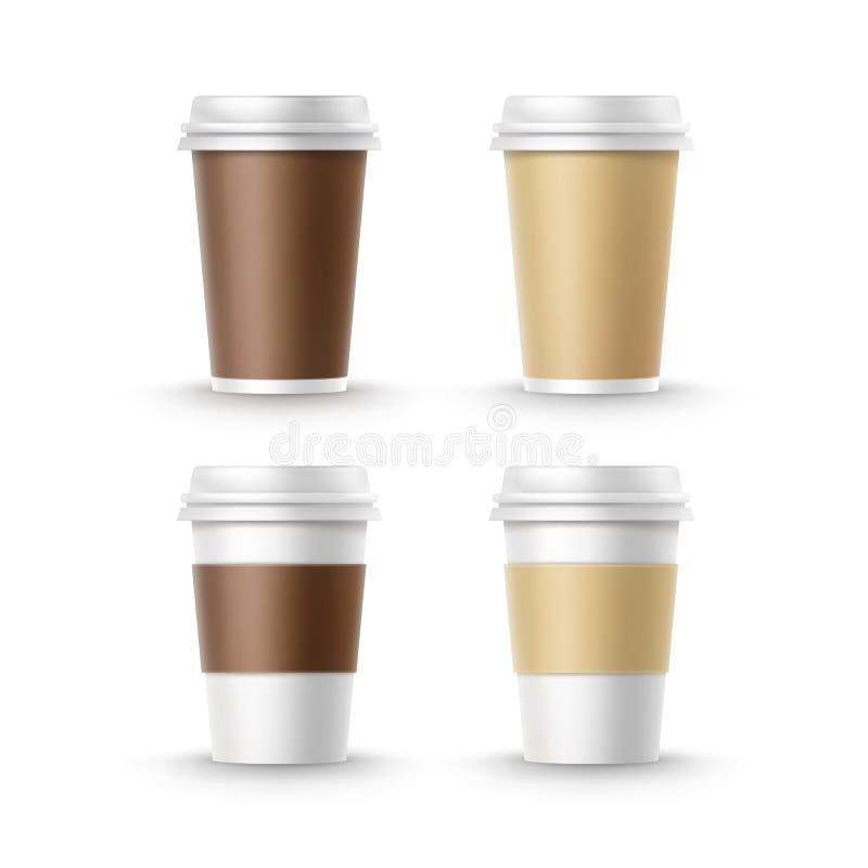 Copos para e café do chá ilustração royalty free