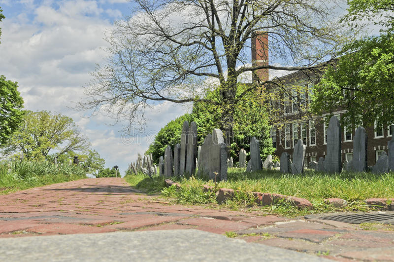 Copp的小山坟场在波士顿,马萨诸塞 库存照片