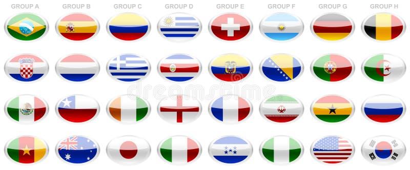 Coppa del Mondo 2014 della FIFA delle bandiere fotografia stock
