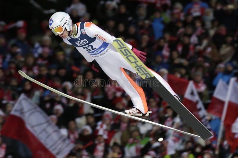 Coppa del Mondo di salto con i sci di FIS in Zakopane 2016 fotografie stock