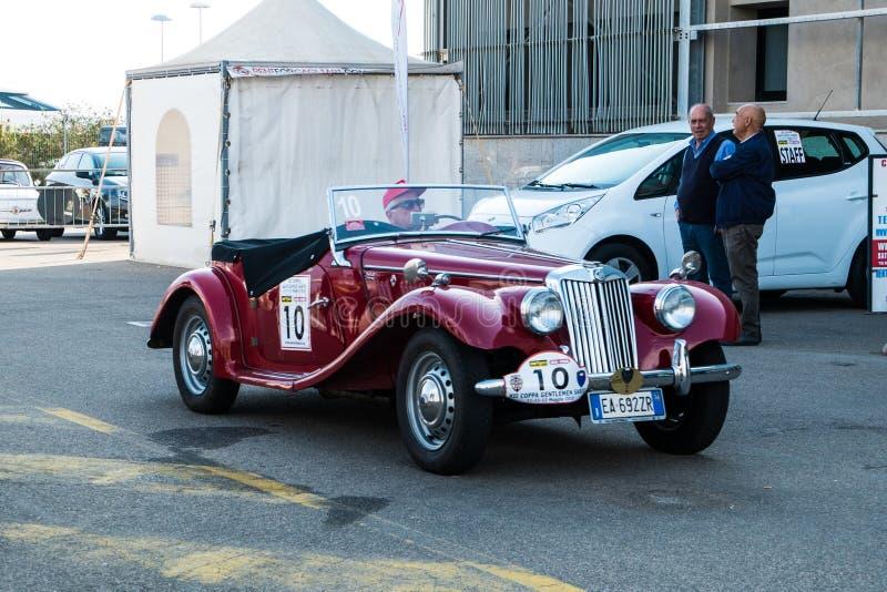 Coppa gentlemen sardi, cars exibition, MG T-Type. 05-13-2018, Sardinia, Cagliari harbor, Coppa gentlemen sardi, cars exibition, MG T-Type royalty free stock photos