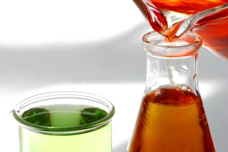 Coppe & liquido sterili. Prova fotografie stock libere da diritti