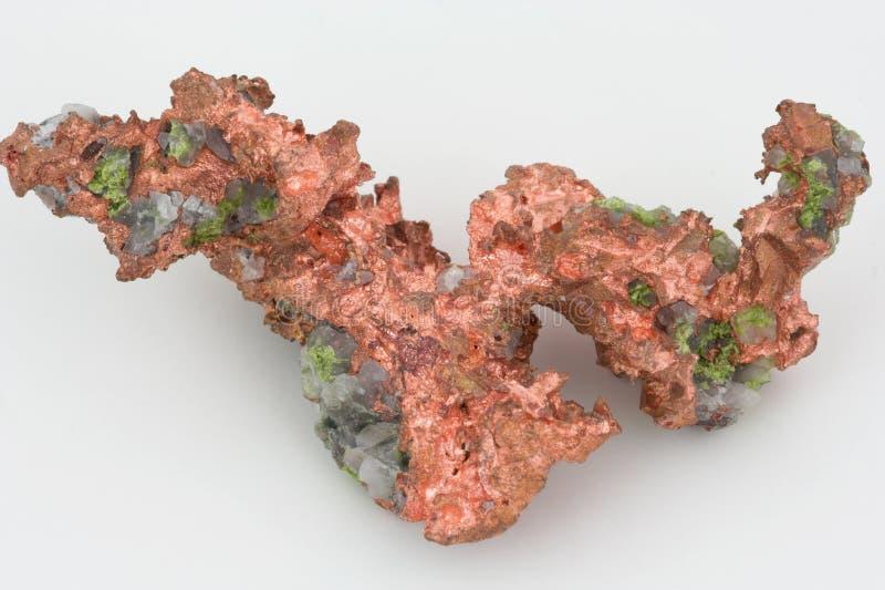 Copper. A nugget of native copper mineral