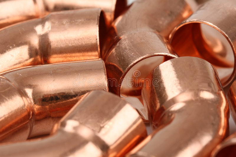 Download Copper stock image. Image of shiny, construction, installation - 2966023