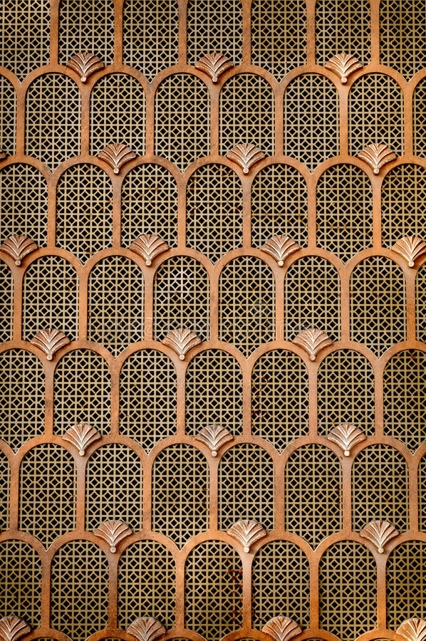 Copper Art Deco background royalty free stock photography