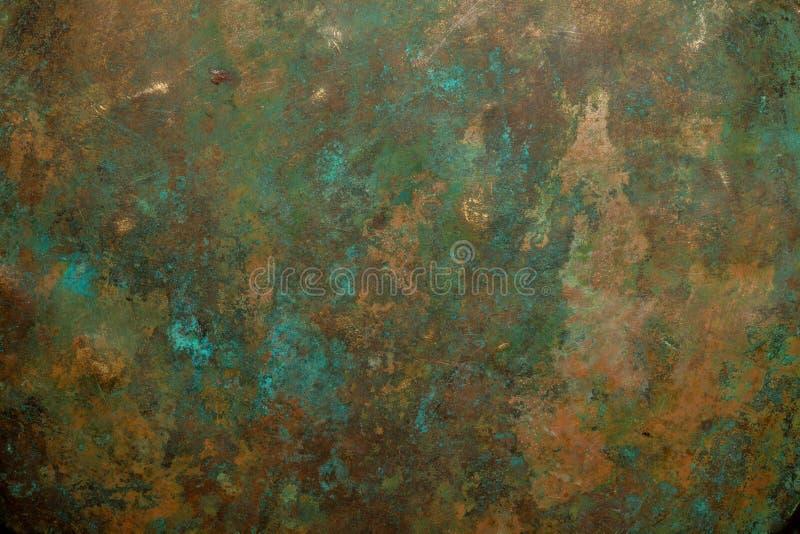 Copper. Background image of antique copper vessel texture