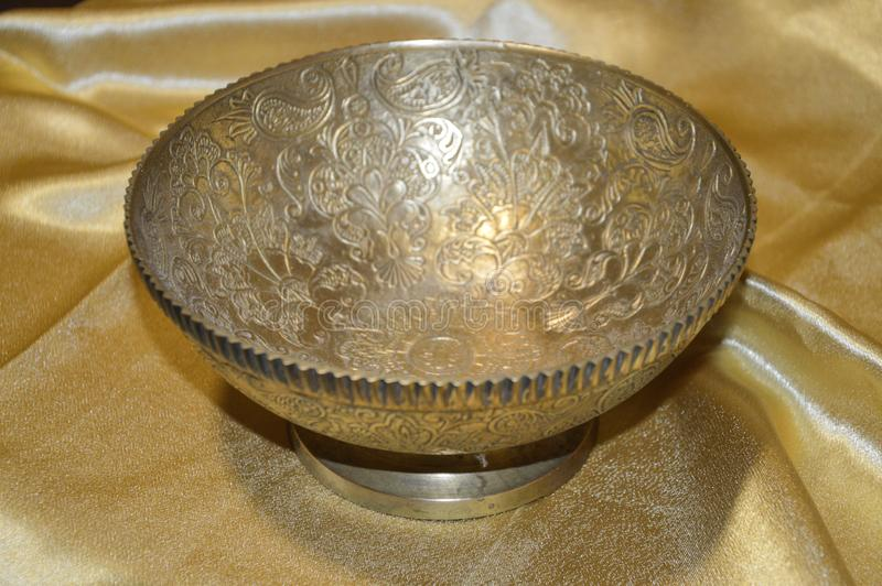 Copper bowl royalty free stock photography