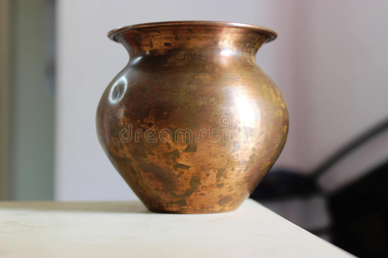 Copper bowl stock photography