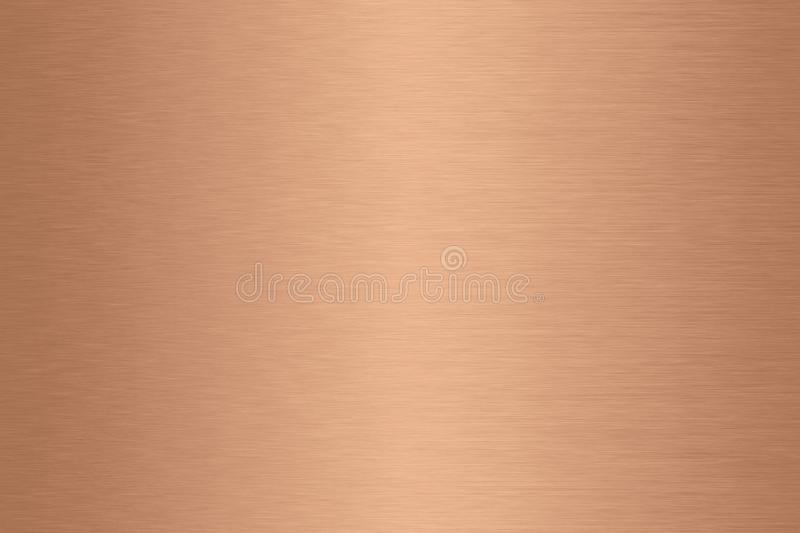 Copper brushed metal background gradient. stock images