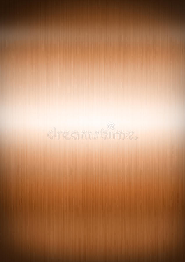 Copper brushed metal background texture stock photo