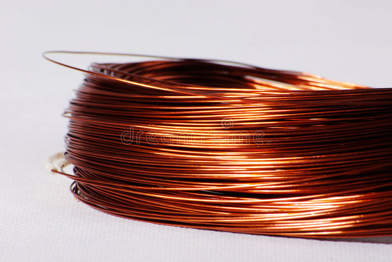 Copper Cable Market Share : Copper cable stock image of industry computer