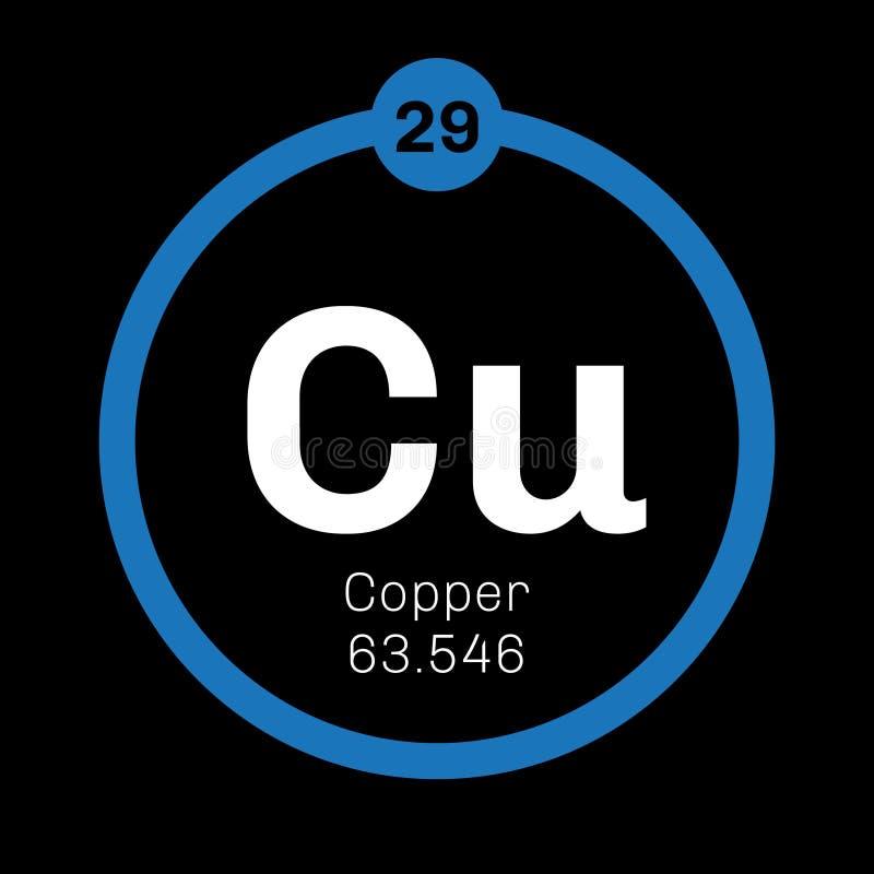 Copper Chemical Element Stock Vector Illustration Of Element 83098912