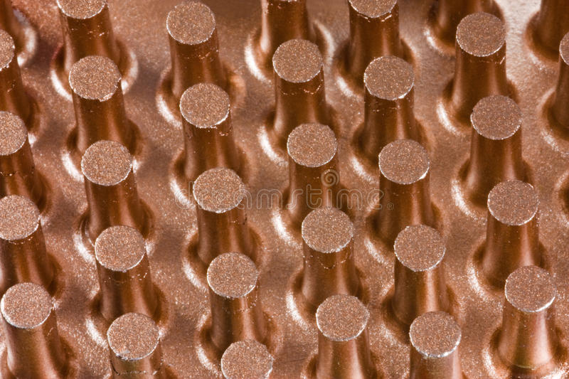 Copper cooling surface royalty free stock photography