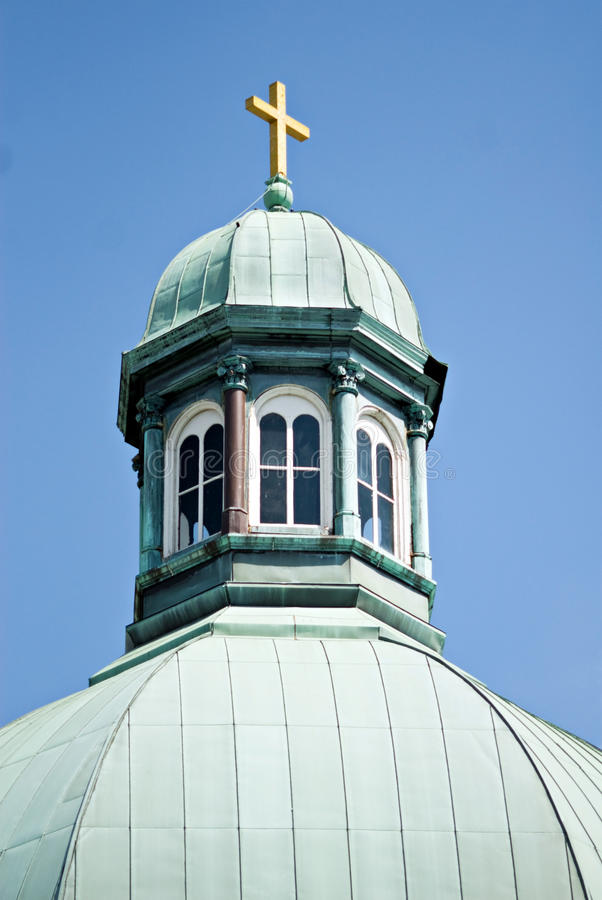 Free Copper Cupola With Cross Stock Images - 10061544