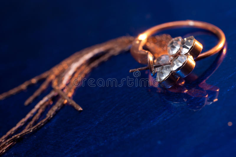 Download Copper earring with gems stock photo. Image of jewel - 23370098