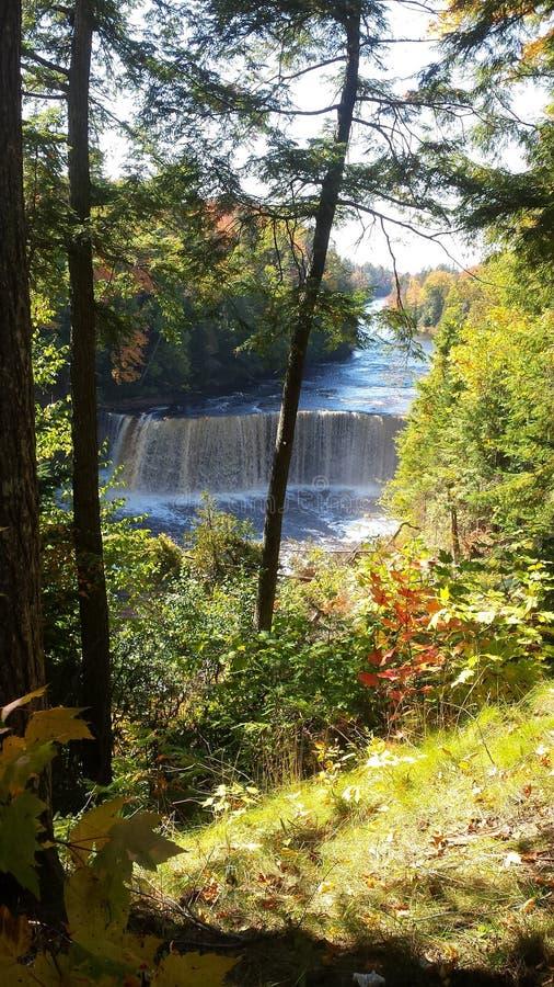 Copper falls Michigan stock photography