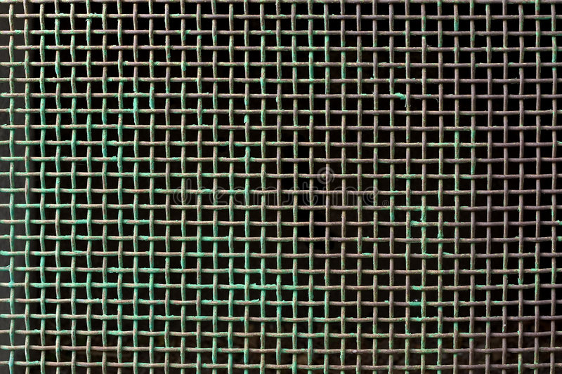 Copper grid stock photography