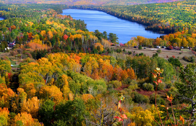 Copper harbor. Scenic landscape near Copper harbor in Michigan stock photography