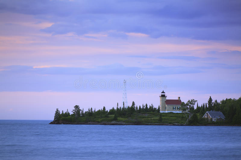 Copper Harbor Lighthouse. The Copper Harbor Lighthouse along the southern shore of Lake Superior in Michigans Upper Peninsula stock images