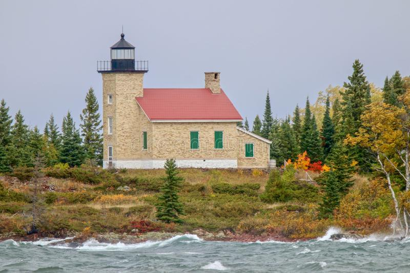 Copper Harbor Lighthouse in Upper Peninsula of Michigan. A wonderful travel destination is the Copper Harbor Lighthouse in the Upper Peninsula of Michigan royalty free stock image