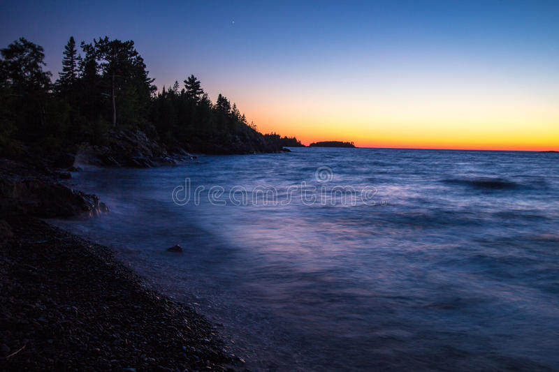 Copper Harbor Sunset Over Lake Superior royalty free stock images