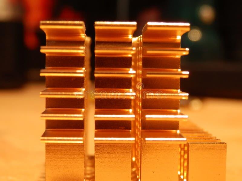 Copper heatsink royalty free stock photo