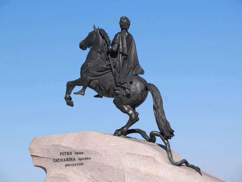 Copper horseman royalty free stock photography