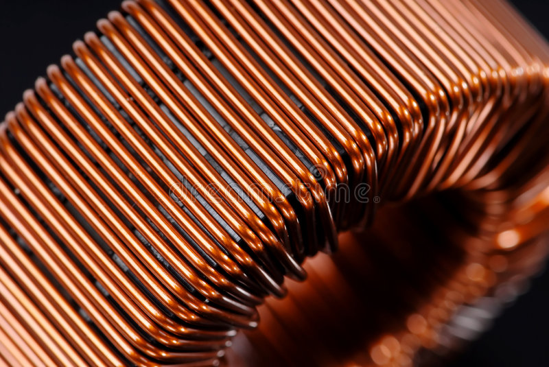 Download Copper inductor stock photo. Image of reel, choking, reactive - 5382842