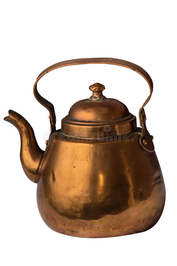 Copper kettle stock photography