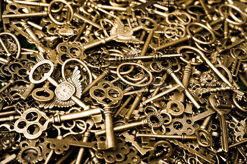 Copper keys royalty free stock photos