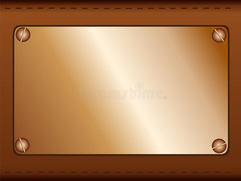 Copper Label Stock Photography