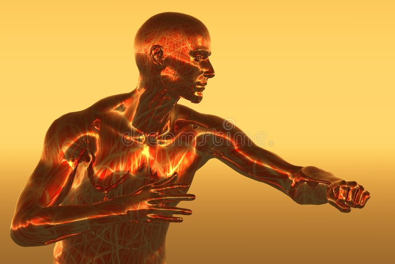 Copper man stock illustration